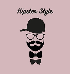 Hipster bearded man vector image