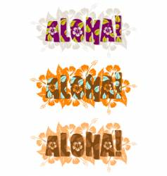 illustration of aloha word vector image