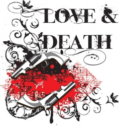 love and death vector image