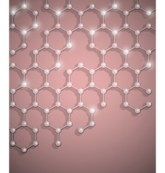 molecular structure background vector image vector image