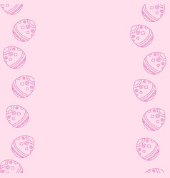 soft pink background with easter eggs vector image