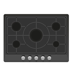 surface for gas stove 01 vector image