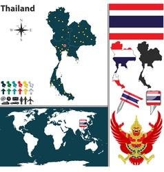 Thailand map world vector image
