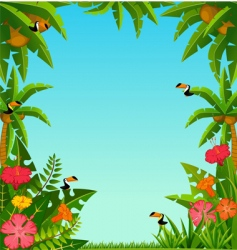 tropical frame vector image vector image