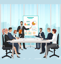 a manager businessman leading the presentation vector image vector image