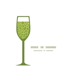 Abstract green natural texture wine glass vector