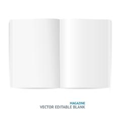 magazine template vector image