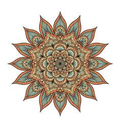 mandala isolated on white vector image