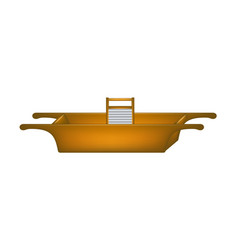 old wooden washtub and wooden washboard vector image