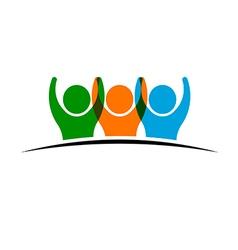 People group winners logo vector image vector image