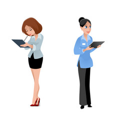 two girls secretaries vector image