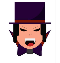 vampire in hat cute cartoon character for vector image