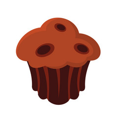 Brownie colorful bakery product icon vector