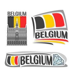 logo for belgium vector image vector image