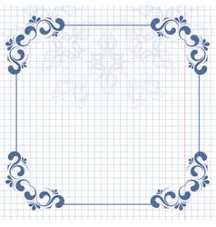 vintage background and frame for design vector image