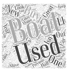 Buying A Used Boat Word Cloud Concept vector image vector image