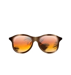 Sunglasses with Palms Reflection Isolated vector image vector image