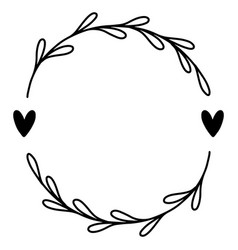 0017 hand drawn floral frame vector