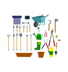 A set of garden items vector