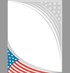 American flag frame template design vector