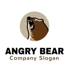 Angry Bear Logo vector