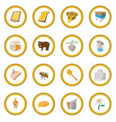 Apiary cartoon icon circle vector