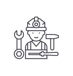assembly work line icon concept assembly work vector image