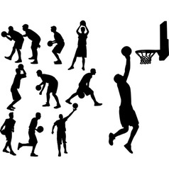 Basketball players vs vector