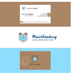 beautiful alarm logo and business card vertical vector image