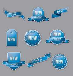 Blue advertising banners vector