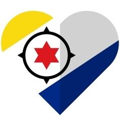Bonaire flat heart flag vector image
