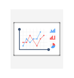 business presentation icon board with a growing vector image
