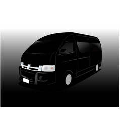 car cartoon cargo van vector image