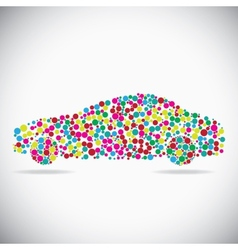 Car consist of dots vector
