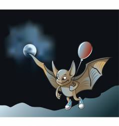 cartoon vampire bat vector image