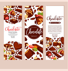 chocolate bar cakes and candies confectionery vector image