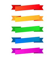 collection color ribbons vector image