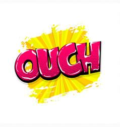 Comic text pop art grunge brush shh vector
