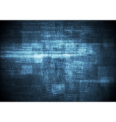 Dark blue grunge technical background vector image