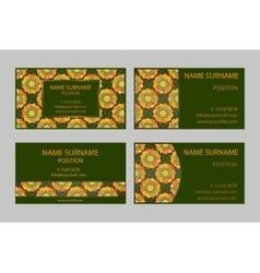 Dark green modern Business-Card Set vector image