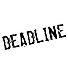 Deadline stamp rubber grunge vector