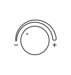 dial knob line outline icon vector image
