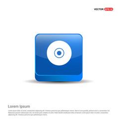 Disc icon - 3d blue button vector