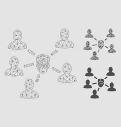 doctor patients mesh carcass model vector image