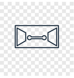 dossier concept linear icon isolated on vector image