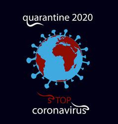earth in danger coronavirus 2019-ncov icon vector image