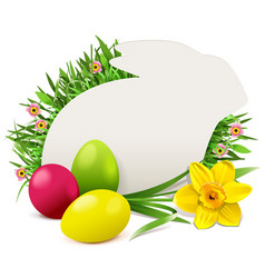easter rabbit greeting card vector image
