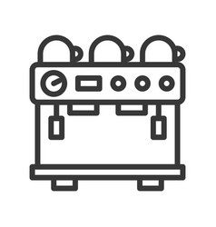 Espresso machine coffee related line style vector