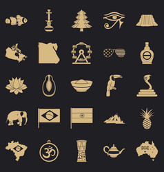Feature icons set simple style vector