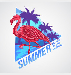 flamingo summer element vector image